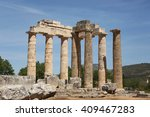 temple of zeus in nemea ... | Shutterstock . vector #409467283