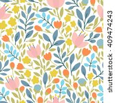 elegant seamless pattern with... | Shutterstock .eps vector #409474243