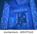 tunnel composed by zeros and... | Shutterstock . vector #409479163