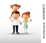 happy family design  | Shutterstock .eps vector #409480873