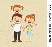 happy family design  | Shutterstock .eps vector #409484863