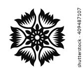 floral vector ornament for... | Shutterstock .eps vector #409487107