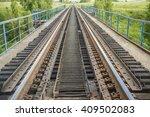 railroad bridge railway bridge... | Shutterstock . vector #409502083