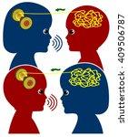 sibling teach each other.... | Shutterstock . vector #409506787