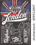 vector chalk great britain flag ... | Shutterstock .eps vector #409512847