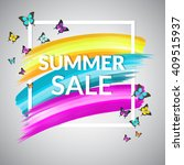 colorful summer sale banner... | Shutterstock .eps vector #409515937