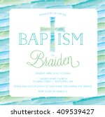 Baptism  Christening Invitatio...