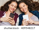 people  friends  teens and... | Shutterstock . vector #409548217