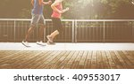 sport people run healthy... | Shutterstock . vector #409553017