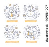 doodle illustrations of... | Shutterstock .eps vector #409584007