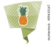pinapple colorful icon | Shutterstock .eps vector #409610167