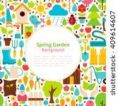 Flat Spring Garden Background....