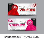 discount voucher template ... | Shutterstock .eps vector #409616683