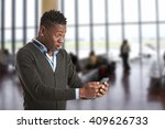 excited man looking at his...   Shutterstock . vector #409626733