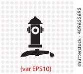 fire hydrant with water hose... | Shutterstock .eps vector #409633693