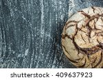 whole loaf home baked rye bread ...   Shutterstock . vector #409637923