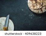 artisan whole grain rye bread ...   Shutterstock . vector #409638223