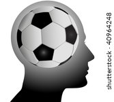 a football soccer fan has a... | Shutterstock . vector #40964248