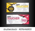 discount voucher template... | Shutterstock .eps vector #409646803