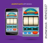 jackpot game ui design. vector... | Shutterstock .eps vector #409652227