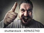 warning man | Shutterstock . vector #409652743