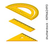set of isometric measuring... | Shutterstock .eps vector #409662493