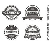 product quality badge label... | Shutterstock .eps vector #409668043