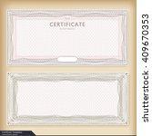 vintage certificate template... | Shutterstock .eps vector #409670353