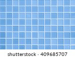 white and blue the tile wall... | Shutterstock . vector #409685707