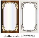 vector vintage border frame... | Shutterstock .eps vector #409691233