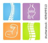 2d vector spinal column... | Shutterstock .eps vector #409699513