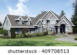 beautiful luxury mansion with... | Shutterstock . vector #409708513