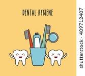 dental hygiene design  | Shutterstock .eps vector #409712407
