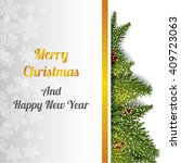 chrismas tree background  | Shutterstock .eps vector #409723063