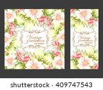 abstract flower background with ...   Shutterstock . vector #409747543