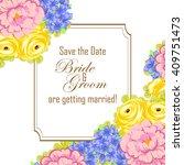 romantic invitation. wedding ...   Shutterstock .eps vector #409751473