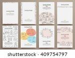 corporate identity vector...   Shutterstock .eps vector #409754797