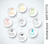 vector infographic design... | Shutterstock .eps vector #409757773
