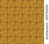 design pattern gold metal weave ... | Shutterstock .eps vector #409761043