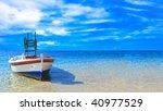 Fishing Boat In The Ionian Sea...
