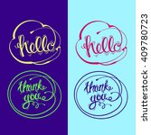 hand drawn vector lettering.... | Shutterstock .eps vector #409780723