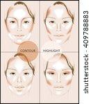 contour and highlight makeup....   Shutterstock . vector #409788883
