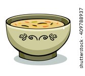 vector illustration of soup in...