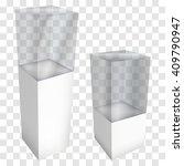 empty glass showcase for... | Shutterstock .eps vector #409790947