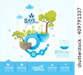 save water vector | Shutterstock .eps vector #409791337