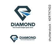 diamond logo template | Shutterstock .eps vector #409797403