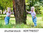 two gorgeous girls twins... | Shutterstock . vector #409798507