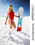 attractive woman dressed in...   Shutterstock . vector #409819417