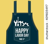 happy labor day greetings cards ... | Shutterstock .eps vector #409835497