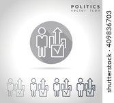 politics outline icon set ... | Shutterstock .eps vector #409836703